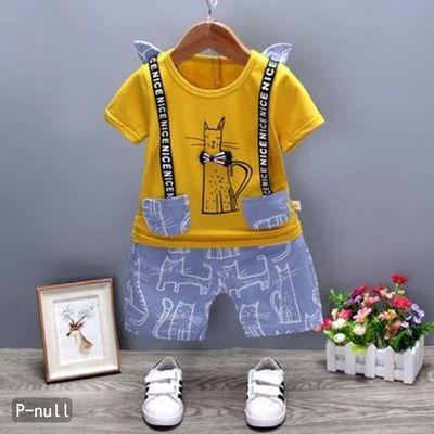 Smart look pant set for boys (Yellow)