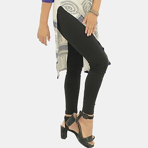 Black Cotton Leggings Churidar, comfortable, stylish and soft leggings | Fit for 28-36 inches Waist