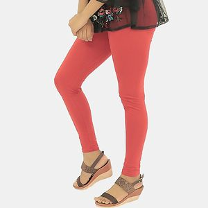 Peach Cotton Leggings Churidar, comfortable, stylish and soft leggings | Fit for 28-36 inches Waist