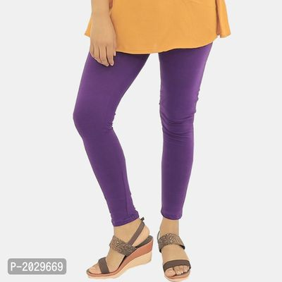 Purple Cotton Leggings Churidar, comfortable, stylish and soft leggings | Fit for 28-36 inches Waist