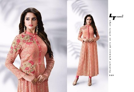 Georgette with embroidery work - Size XL (42)