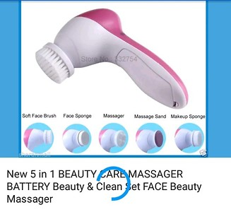 Rolling face massager