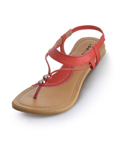Red Solid Synthetic Leather Fashion Flats