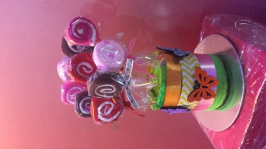 Towel candy bouquet