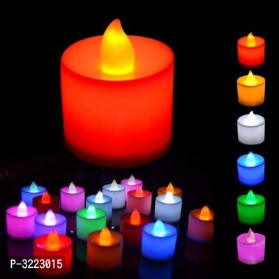 Multicolored Decoration Battery Operated Led Tealight Candle- Set Of 1