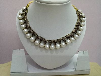 Beads and antique bails necklace