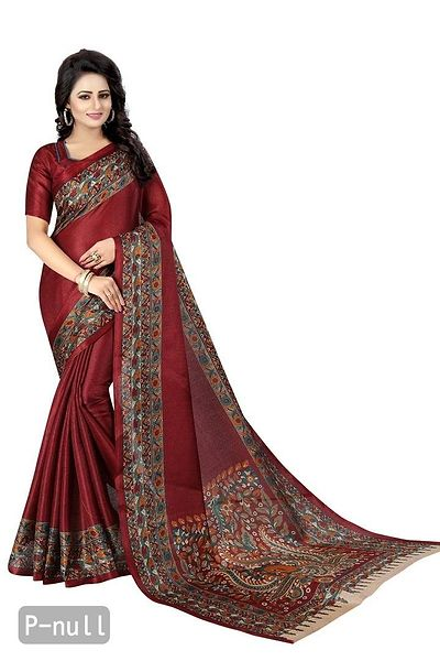 Maroon Polycotton Bollywood Saree