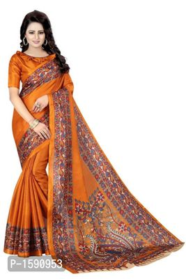 Golden Polycotton Bollywood Saree