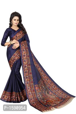 Navy Blue Polycotton Bollywood Saree