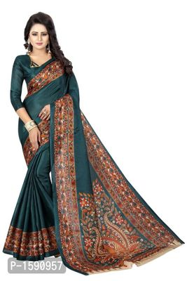 Green Polycotton Bollywood Saree