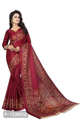 Purple Polycotton Bollywood Saree