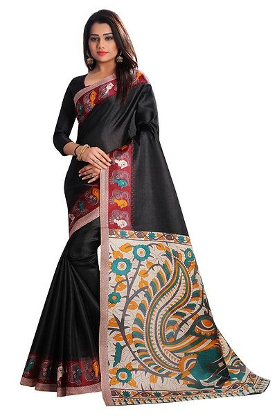 Black Polycotton Bollywood Saree