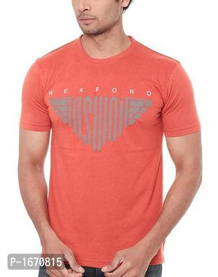 Orange Printed Cotton Tees