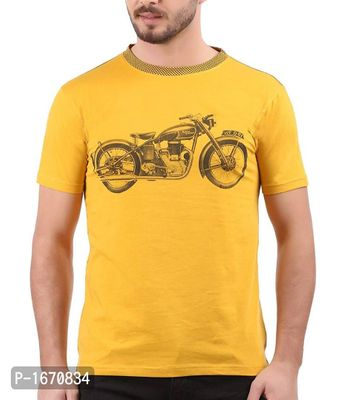 Yellow Printed Cotton Tees