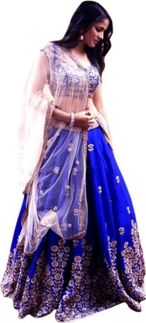 Women's Tapeta Silk Blue Ap choli