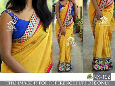 designer Sarees for all occasions with Embroidered blouse
