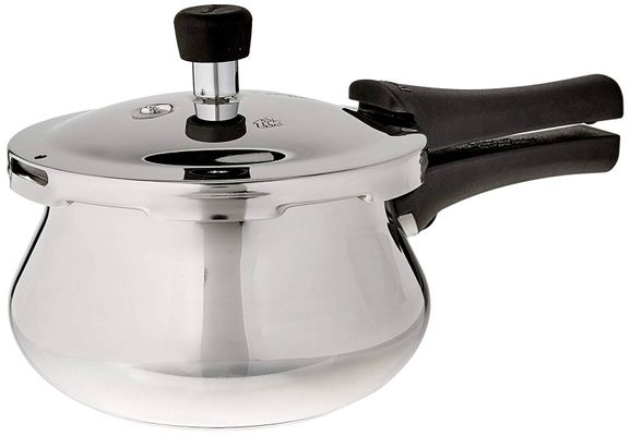 Deluxe Alpha Stainless Steel Baby Handi 2 Litres Silver