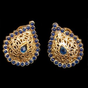 Stylish Blue Pendant Jewelry Set Traditional Necklace Jewelry For women