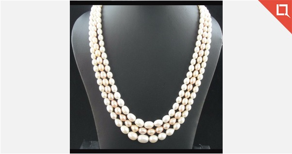 Real Pearl Three Layer Necklace