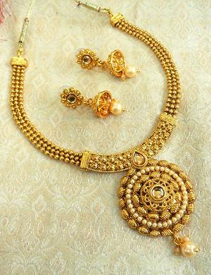 LALSO LCT / Golden Ball Chain Delicate Necklace Set - LBCN04_LCT
