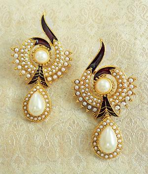 LALSO White Pearl Earring - LAE74_MT