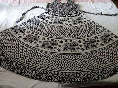 Jaipuri free size gown