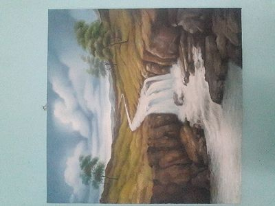 Oil paintings of water fall