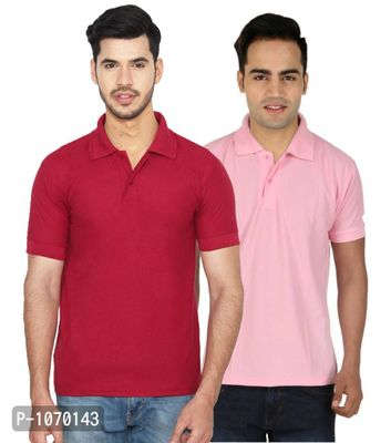 Men's Cotton Blend Polo T-Shirt Pack Of 2