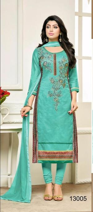Cotton Embroidered salwar material