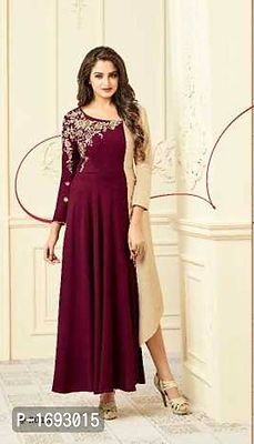 READY to wear evening gown in heavy rayon n cotton