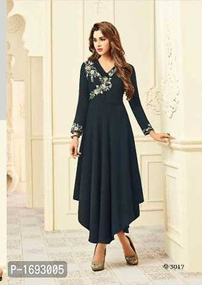 blackish grey evening gown