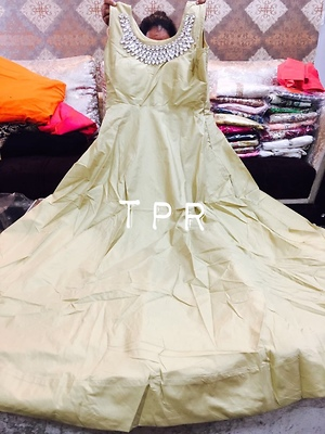 Stitched gown