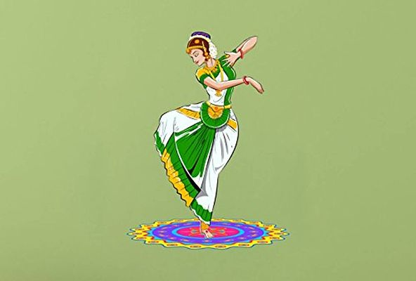 Traditional Dance Wall Sticker
