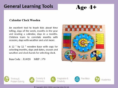 Wooden Clock And Calendar Learning Set