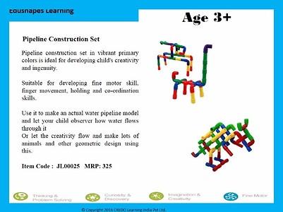 Pipe construction set