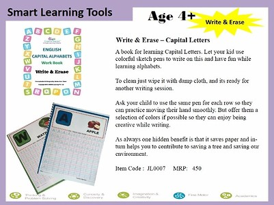 Erase & Write Book For English Alphabet