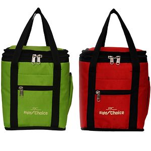 Right Choice Combo Offer Lunch Bags (RED PARED GREEN) Branded Premium Quality Carry on Tote for School Office Picnic Travel Camping Outdoor Pouch Holder Handbag Compact Heat Preservation Waterproof Hy