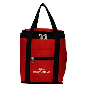 Right Choice Combo Offer Lunch Bags (RED) Branded Premium Quality Carry on Tote for School Office Picnic Travel Camping Outdoor Pouch Holder Handbag Compact Heat Preservation Waterproof Hy