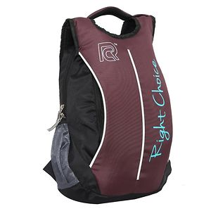 Right Choice (2219 Right) Black, Purple stylish tuff quality college school casual Backpack bags (boys and girls)