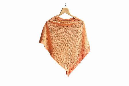 Diamond poncho  orange