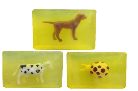 Happy Baby Luxurious Kids Soap With Toy-Lemon(Pack Of 3)