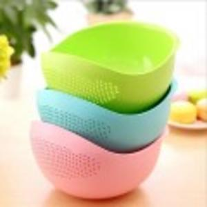 Rice Strainer Basket Fruit Vegetables wash basket - Assorted Colours - Big