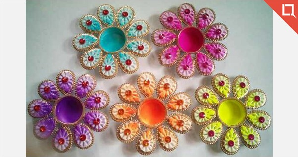 beautiful diyas set of 5