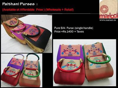 Pure Silk Paithani Purse