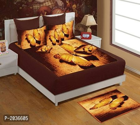 velvet king size bedsheet with two pillow covers