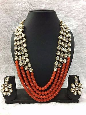 Wedding wear or Party wear Necklace set with earring