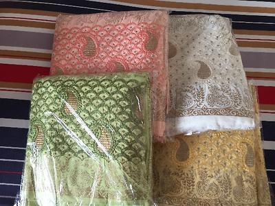Block print suit material