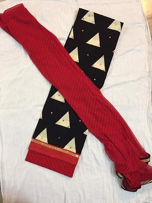 Black and red cotton materials