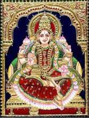 annapoorna tanjore painting