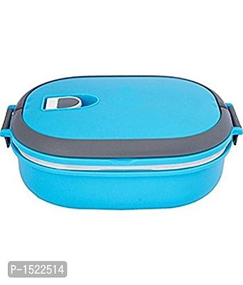 Stainless Steel Rectangle Lunch Box, 900ml, Blue